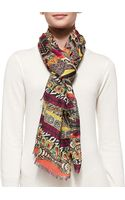 Etro Multiprint Stole - Lyst