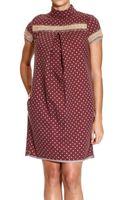 Manila Grace Dress Short Sleeve Pois - Lyst