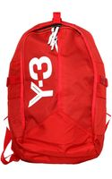 Y-3 Logo Day Zipped Backpack Red - Lyst
