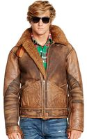Polo Ralph Lauren Shearling Bomber Jacket - Lyst