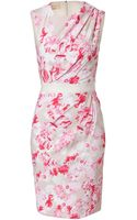 Giambattista Valli Draped Floral Print Sheath Dress - Lyst