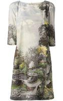 Antonio Marras Landscape Print Dress - Lyst