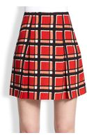 Marc By Marc Jacobs Plaid Pleated Mini Skirt - Lyst