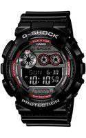 G-shock Mens Digital Xl Black Resin Strap Watch 55x51mm Gd120ts1 - Lyst