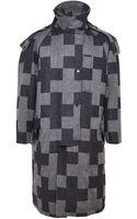 E. Tautz Mens Wool Cross Pattern Parka Coat - Lyst