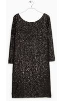 Violeta By Mango Sequined Dress - Lyst