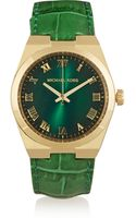 Michael Kors Channing Gold-tone and Croc-effect Leather Watch - Lyst