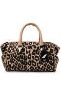 Diane Von Furstenberg Sutra Leopard Jacquard Small Duffle Bag - Lyst