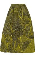 Christopher Kane Geometric-print Cotton Skirt - Lyst