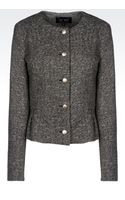 Armani Jeans Crew Neck Jacket in Wool Blend - Lyst