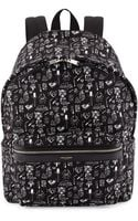 Saint Laurent Hunter Mens Printed Canvas Backpack - Lyst