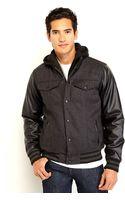 Steve Madden Mixed Media Varsity Jacket - Lyst