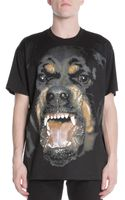 Givenchy Snarling Rottweiler Dog Jersey Tee Black - Lyst