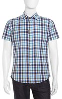 Robert Graham Shortsleeve Check Poplin Sport Shirt - Lyst