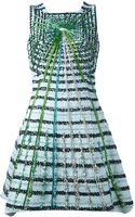 Peter Pilotto Flared Tweed Dress - Lyst