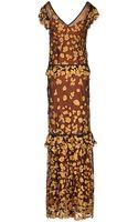 Class Roberto Cavalli Long Dress - Lyst