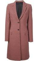 Jonathan Saunders Checkered Coat - Lyst