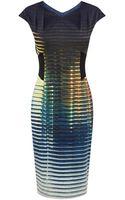 Karen Millen Modern Stripe Dress - Lyst