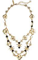 Oscar de la Renta Bibbed Mosaico Necklace - Lyst
