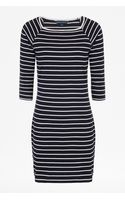 French connection Tim Tim Striped Dress - Lyst