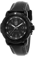 Luminox Womens Modern Mariner Black Dial and Genuine Leather Strap - Lyst