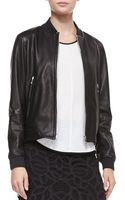 Rag & Bone Leather Skid Pan Jacket Black - Lyst