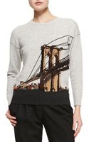 Burberry Prorsum Brooklyn Bridge Intarsia Sweater - Lyst