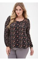 Forever 21 Lace Panel Floral Top - Lyst