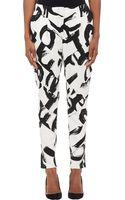 Proenza Schouler Brushstroke Logo Pleatseam Trousers - Lyst