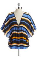 Michael by Michael Kors Striped Top - Lyst