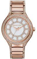 Michael Kors Ladies Kerry Rose Goldtone  Crystal Watch - Lyst