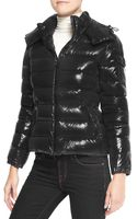 Moncler Shiny Fitted Puffer Jacket with Hood - Lyst