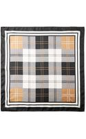 Alexander McQueen Checked Silk Pocket Square - Lyst