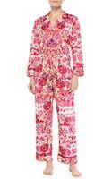 Oscar de la Renta Floralprint Ikat Pajama Set - Lyst