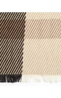 Burberry Camel Check Wool and Cashmere Scarf - Lyst