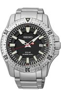 Seiko Mens Solar Dive Stainless Steel Bracelet Watch 45mm Sne279 - Lyst