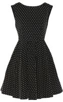 Alice + Olivia Faux Pearlembellished Cotton Mini Dress - Lyst