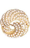 Jones New York Goldtone Faux Pearl Swirl Pin - Lyst