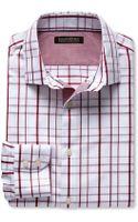 Banana Republic Tailored Slim Fit Non Iron Textured Line Shirt Retro Red - Lyst