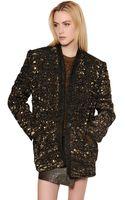 Isabel Marant Embellished Wool Tweed Jacket - Lyst