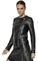 Belstaff Quilted Perfecto Nappa Leather Jacket - Lyst