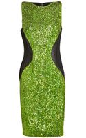 Antonio Berardi Sequin Embellished Silk Dress - Lyst