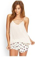 Forever 21 Caged Cut Out Cami - Lyst