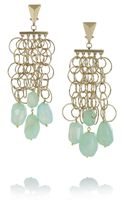 Etro Va Goldtone Agate Clip Earrings - Lyst