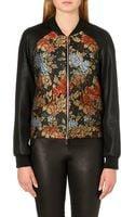 Karen Millen Floral Brocade Bomber Jacket - Lyst