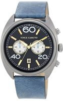 Vince Camuto Mens Light Blue Leather Strap Watch 44mm Vc - Lyst