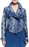 Donna Karan New York Handpainted Python Jacket - Lyst