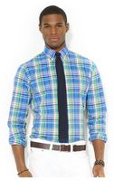 Polo Ralph Lauren Polo Customfit Plaid Poplin Shirt - Lyst