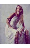 Free People Gemmas Limited Edition White Dress - Lyst