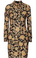 Isabel Marant Roma Printed Silk Jersey Mini Dress - Lyst